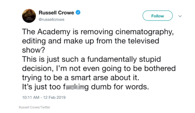 Russell Crowe about The Oscar@
