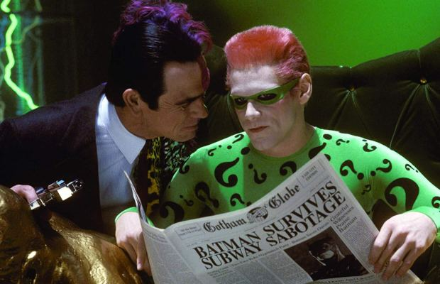 Batman Forever, Jim Carrey, Tomy Lee Jones